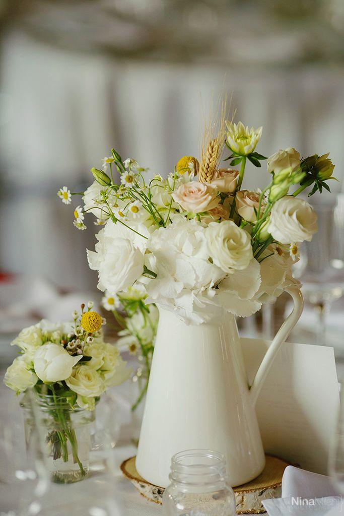 dettagli allestimento e centro tavola per matrimonio vintage o shabby chic?