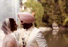 matrimonio indiano in Italia a Cascina Farisengo vicino a Cremona: sposi in riva al lago